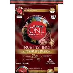 Purina ONE SmartBlend True Instinct with a Blend of Real Turkey & Venison NATURAL Adult Dry Dog Food - (1) 27.5 lb. Bag @ To check this awesome product by going to the link at the image. (This is an affiliate link and I receive a commission for the sales)