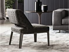 UPHOLSTERED LOW LOUNGE CHAIR WITH REMOVABLE COVER OWENS SERIES BY MINOTTI | DESIGN R D