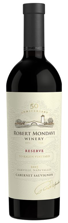2013 Robert Mondavi Winery Reserve To Kalon Vineyard Cabernet Sauvignon Oakville Napa Valley