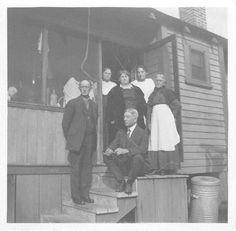 Black and White Vintage Snapshot Photograph Family Porch Steps Dress 1920'S | eBay