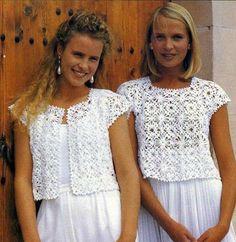 Pattern Women's Crochet Sleeveless Pullover and Sleeveless Cardigan / Vintage Crochet Pattern PDF – Débardeurs Au Crochet, Gilet Crochet, Mode Crochet, Crochet Jacket, Crochet Woman, Crochet Cardigan, Crochet Sweaters, Black Crochet Dress, Sleeveless Cardigan