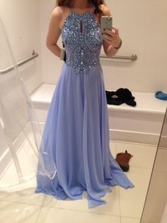 Light purple prom dress