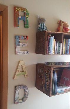 Custom made READ wood letters for kids nursery decor Home Wall Decor, Baby Room Decor, Nursery Decor, Diy Home Decor, Bookshelves Kids, Bookcases, Letters For Kids, Toy Rooms, Kids Wood