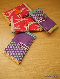 Mini wallets in Echino fabric