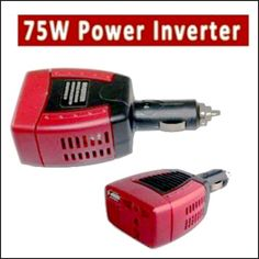 75W Car Invertor Power Charger - DC 12V to 220V