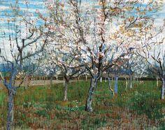 Vincent Van Gogh - Post Impressionism - Arles - Le verger rose - 1888