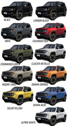 2015 Jeep Renegade Will Come In A Big Selection Of Great Colors green color cars 2015 - Green Things Jeep Cars, Jeep Truck, Accesorios Jeep Renegade, Automobile, Chrysler Dodge Jeep, Jeep Liberty, Jeep Life, Jeep Wrangler, Truck Accessories