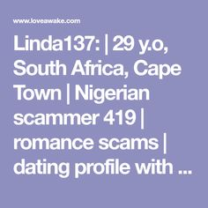 online dating scams cape town