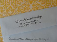 Emerson Handwritten Address Stamp your choice of by lettergirl, $40.00