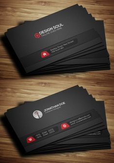 Black Corporative Business Card #businesscards #branding #psdtemplates