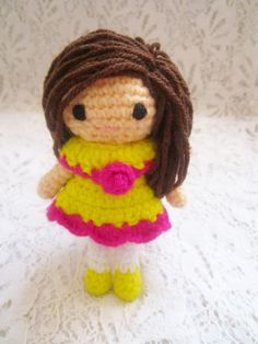 A little love everyday!: Little Amigurumi doll pattern.
