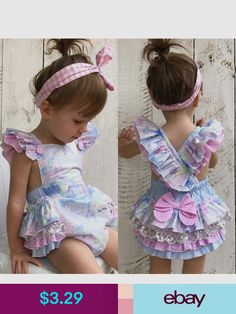 621d333e7fe1 Buy Floral Newborn Baby Girl Bodysuit Romper Jumpsuit Outfits Sunsuit  Clothes at Wish - Shopping Made Fun