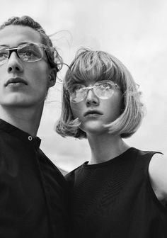 Women / Glasses Andy Wolf / Black and White Photography by Elizaveta Porodina Photography Women, Couple Photography, Editorial Photography, Photography Ideas, Black And White Couples, Black N White, Wolf Black, Style Blog, Andy Wolf