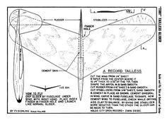 Tiny Tailless Glider - plan thumbnail