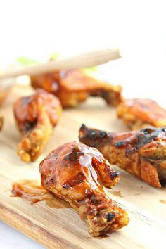 Grilled Chicken with Honey Bourbon BBQ Sauce