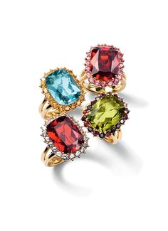 Gold engagement rings with gemstones by D&G Jewellery | Jewellery Dolce&Gabbana