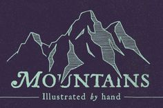 Who doesn't love a good mountain rage? Here's a hand-illustrated collection for your next design project. Each illustration was originally sketched free-hand-style with a pencil and paper. The sketches were then inked and scanned at high-resolution. Voila.