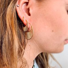 Pernille Corydon - Daylight Earrings Gold Plated - Lilly is Love Stone Earrings, Gold Earrings, Drop Earrings, Hair And Nail Salon, Hair And Nails, Gold Coffin Nails, Congrats On Your Engagement, Essie Nail Colors, Orange Nails