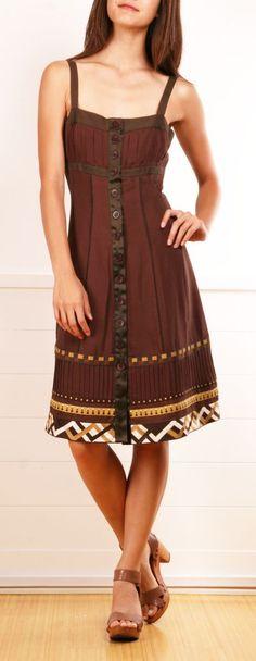 Brown Summer Dress.
