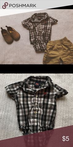 3-6 month wrangler button up Soo cute, perfect for any outfit! One Pieces