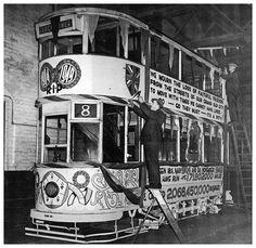 The last tram. 9th November 1949