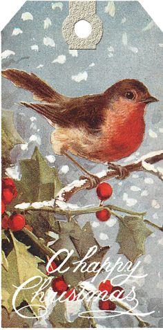 Christmas Tags Printable, Free Printable Gift Tags, Christmas Gift Tags, Christmas Art, Christmas Journal, Printable Vintage, Vintage Clipart, Vintage Tags, Vintage Ephemera