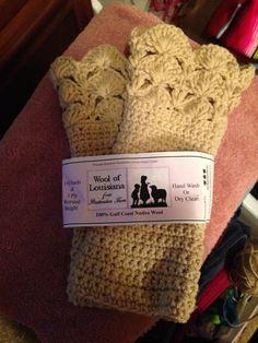 Gayle's crocheted gloves from Gulf Coast Native wool yarn by Wool of Louisiana. Crochet Gloves, Wool Yarn, Craft Gifts, Louisiana, Sheep, Nativity, Crocheting, Coast, Faith