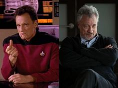 The Cast Of Star Trek Then & Now  Q – John de Lancie  John de Lancie has had a successful career since Star Trek, with roles in The West Wing, Law & Order, Charmed, and Breaking Bad.
