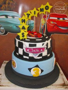 Awesome cake at a Disney Cars birthday party! See more party ideas at CatchMyParty.com!