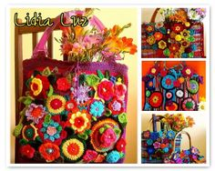Wowza! So much colour and flowers on one bag!