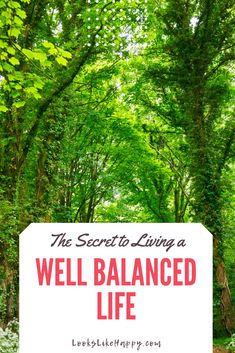The Secret to Living a Well Balanced Life | Life can be a whole lot less complicated when you know what to focus on! Pin now, read later!  #selfcare #personalgrowth