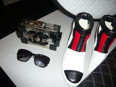 Chanel boots + purse + sunglasses