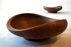Pair of Finn Juhl vintage Teak Bowls for Kay Bojesen 1949  NO RES  Danish Modern | eBay