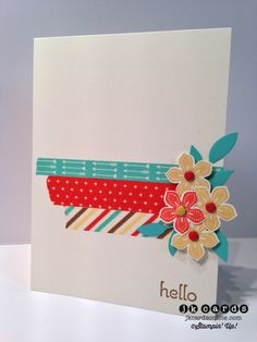 Stampin' Up!, Paper Players 192, A Dozen Thoughts, Petite Petals, Little Leaves Sizzlit, Petite Petals Punch, Retro Fresh This & That Designer Washi Tape, Subtles Candy Dots, Brights Candy Dots