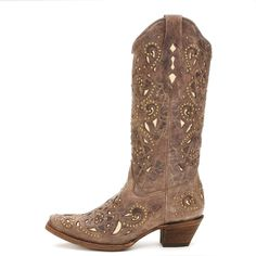 Corral Tan Crater Inlay Cowgirl Boots