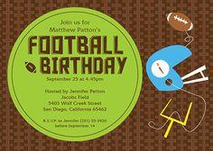 Customizable kids birthday Invitations - Football themed birthday party