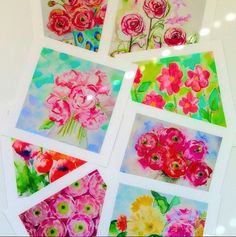 Floral Gallery Wall Set of 8 Prints by LimezinniasDesign on Etsy