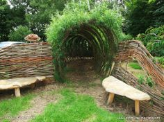 Living Structures Vol. 59. Willow Installation by Willow Culture, Northumberland, via the AvantGardens FB group