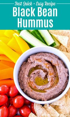 Treat yourself to the BEST Black Bean Hummus Recipe! Learn how to make homemade Hummus with Black Beans using simple, healthy ingredients: beans, tahini, lime juice, garlic, spices. You can make this Spicy Black Bean Hummus as mild or as hot as you like. This easy recipe is super smooth and creamy, and it's a fun Mexican / Tex Mex twist on the classic Hummus recipe. Make this Flavored Hummus dip for a snack, party, or light lunch ... it's  Vegan, Dairy Free, Gluten Free!   Hello Little Home