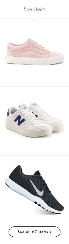 Sneakers by agaphbou on Polyvore featuring polyvore, women's fashion, shoes, sneakers, zapatos, laced up shoes, leather upper shoes, laced shoes, rubber sole shoes, lace up shoes, white, white shoes, tennis trainer, white tennis shoes, new balance trainers, leather trainers, athletic shoes, black, cross training shoes, kohl shoes, black laced shoes, print shoes, nike shoes, synthetic shoes, nike, lightweight shoes, blue, blue suede shoes, new balance, new balance footwear, blue sneakers, new…