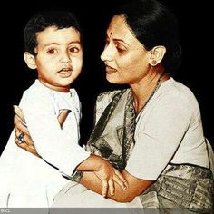 The little Abhishek Bachchan looks adorable in this pic with mother Jaya.