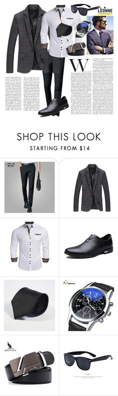 """""""Classic"""" by leonnestyle ❤ liked on Polyvore featuring men's fashion and menswear"""
