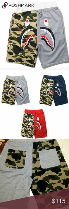 Bape Grey/Army Shorts New 100% UA. No Trades Men Size Large P a y p a l is the only thing we use! If your interested DONT OFFER, LET ME KNOW OR LEAVE EMAIL for p a y p a l In-Voice. Bape Shorts