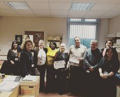 Marisa Ellis from child health information services and Kelvin Lack from LGSS partners celebrating their unsung hero quality award! Recognised for their excellent partnership working of  integrating two services and two IT systems to enable clinical colleagues access to single child health records and significantly improve services.  Well done guys!!  #qualityawards #unsunghero #partnership #workingtogether #success #weareNHFT #proud #NHS #Northamptonshire #pictureoftheday