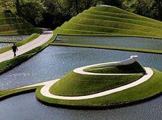 Jupiter Artland sculpture garden in Edinburgh: 'Life Mounds' by Charles Jencks