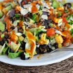 Chopped Taco Salad with Homemade Catalina Dressing from Mel's Kitchen Cafe