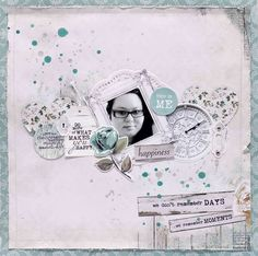 Kaisercraft Blue Bay - This Is Me layout - Anita Bownds