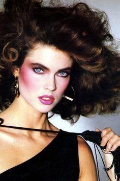 Makeup Trends - Make-Up Trends 1980 Makeup, 80s Makeup Looks, 80s Eye Makeup, Makeup Contouring, Makeup Geek, Make Up Looks, Trend Fashion, 80s Fashion, Fashion Art
