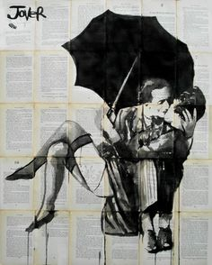 "Artist Loui Jover; drawing, ""the vintage kiss"""