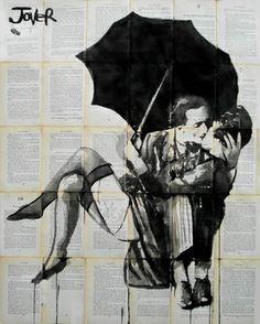 "Saatchi Online Artist Loui Jover; Drawing, ""the vintage kiss"" #art"